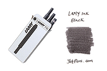 Lamy Fountain Pen Ink Cartridge - Black - Pack of 5 - LAMY LT10BK