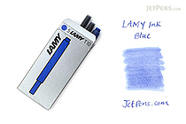 Lamy Fountain Pen Ink Cartridge - Blue - Pack of 5 - LAMY LT10BL