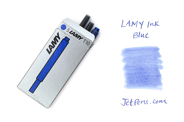 Lamy Fountain Pen Ink Cartridge - Blue - Pack of 5 - LAMY LT10BL