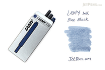 Lamy Fountain Pen Ink Cartridge - Blue Black - Pack of 5 - LAMY LT10BKBL