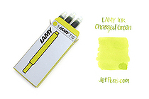 Lamy Fountain Pen Ink Cartridge - Charged Green - Pack of 5 - LAMY LT10CN