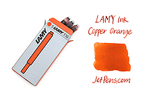 Lamy Fountain Pen Ink Cartridge - Copper Orange - Pack of 5 - LAMY LT10CE