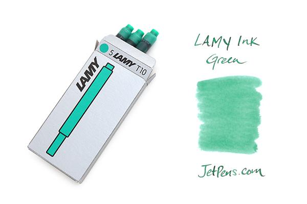 Lamy Fountain Pen Ink Cartridge - Green - Pack of 5 - LAMY LT10GR