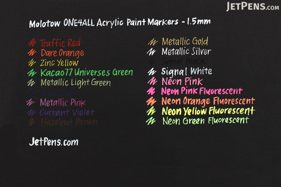 Molotow ONE4ALL Acrylic Paint Marker - 127HS - 1.5 mm - Currant Violet (042) - MOLOTOW 127.407