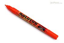 Molotow ONE4ALL Acrylic Paint Marker - 127HS - 1.5 mm - Dare Orange (085) - MOLOTOW 127.403