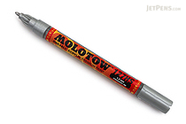 Molotow ONE4ALL Acrylic Paint Marker - 127HS - 1.5 mm - Metallic Silver (227) - MOLOTOW 127.505