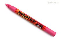 Molotow ONE4ALL Acrylic Paint Marker - 127HS - 1.5 mm - Neon Pink (200) - MOLOTOW 127.408