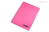 Maruman Sept Couleur Notebook - A4 - 7 mm Rule - Pink - MARUMAN N570A-08