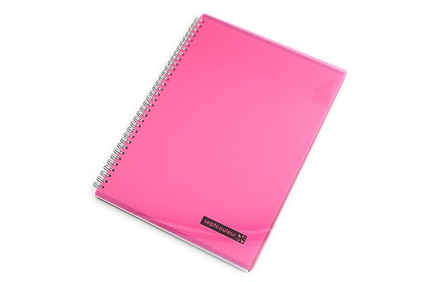 Maruman Sept Couleur Notebook - A4 - 7 mm Rule - Pink - MARUMAN N570A-08