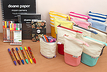 New Products: Standing Pen Cases, Molotow ONE4ALL Markers, Doane Paper Moon Camera Journals, Declan Floral Word Notebooks, and More!