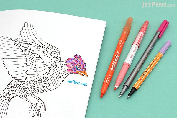 Clairefontaine Coloring Book - Flowers - 20 x 20 cm - CLAIREFONTAINE 97502C