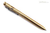Karas Kustoms Bolt Pilot G2 Pen - Brass - 0.5 mm - Black Ink - KARAS KK-5037-BRASS