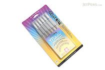 Sakura Gelly Roll Metallic Gel Pen - 1.0 mm - Silver - 6 Pen Set - SAKURA 57384