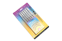Sakura Gelly Roll Metallic Gel Pen - 1.0 mm - Silver - 6 Pen Set - SAKURA 57384