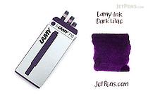 Lamy Fountain Pen Ink Cartridge - Dark Lilac - Pack of 5 - LAMY LT10DC