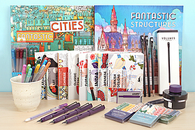 New Products: Lamy Safari Dark Lilac, Palomino Blackwing Pencils, Pepin Coloring Postcards, Coloring Books, Pen Caps, Gel Pens, and More!
