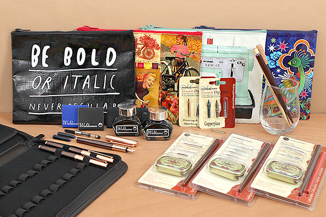 New Products: Regal Pen Folio, Zipper Pouches, Leonardt Dip Pen Nibs and Nib Holders, and More!