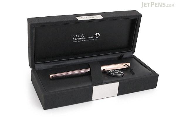 Waldmann Tuscany Rose Gold Fountain Pen - Steel Nib - Fine - WALDMANN 2282