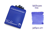 Waldmann Fountain Pen Ink Cartridge - Blue - Pack of 6 - WALDMANN 0125