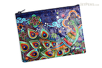 Blue Q Zipper Pouch - Peacock - BLUE Q QA233