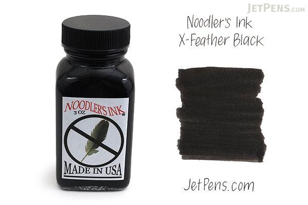 Noodler's X-Feather Black Ink - 3 oz Bottle - NOODLERS 19046