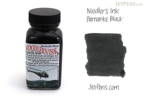 Noodler's Bernanke Black Ink - 3 oz Bottle - NOODLERS 19066