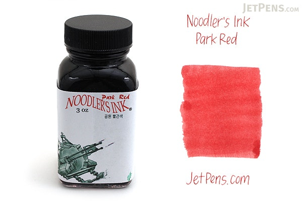 Noodler's Park Red Ink - 3 oz Bottle - NOODLERS 19074
