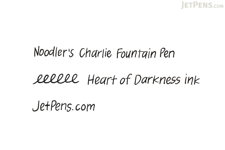 Noodler's Heart of Darkness Ink - 4.5 oz Bottle with Free Pen - NOODLERS 19808
