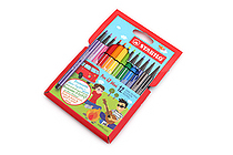 Stabilo Pen 68 Mini Marker - 1.0 mm - 12 Color Set - STABILO 668/12