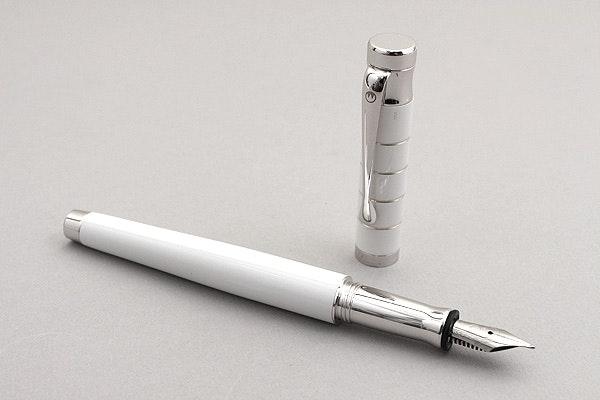 Waldmann Tango White Fountain Pen - Steel Nib - Medium - WALDMANN 0013