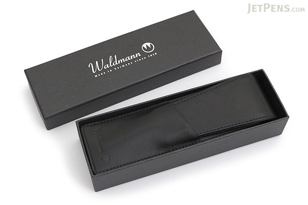 Waldmann Leather Pouch for 2 Pens - WALDMANN 0136