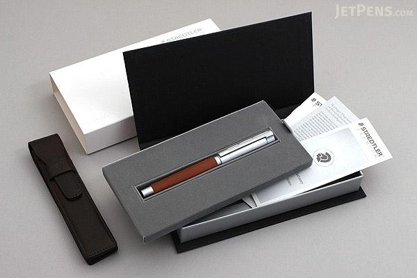 Staedtler Initium Lignum Fountain Pen - Plum Wood - Medium Nib - STAEDTLER 9PM121M