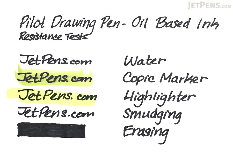 Pilot Drawing Pen - Oil-Based Ink - 03 - Black - PILOT M-20DRN3-B