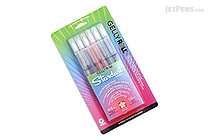 Sakura Gelly Roll Stardust Gel Pen - 1.0 mm - 6 Color Set - Meteor - SAKURA 37904
