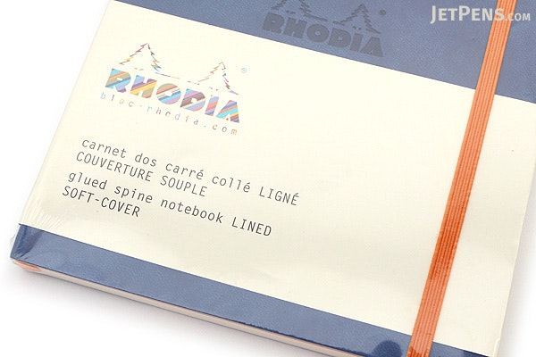 Rhodia Rhodiarama Softcover Notebook - A5 - Lined - Sapphire - RHODIA 117408