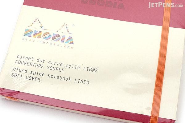 Rhodia Rhodiarama Softcover Notebook - A5 - Lined - Raspberry - RHODIA 117412