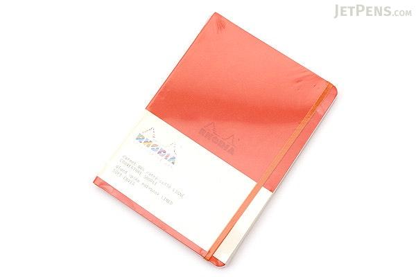 Rhodia Rhodiarama Softcover Notebook - A5 - Lined - Tangerine - RHODIA 117414