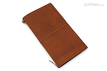 Traveler's Notebook Starter Kit - Regular Size - Camel Leather - TRAVELER'S 15193006