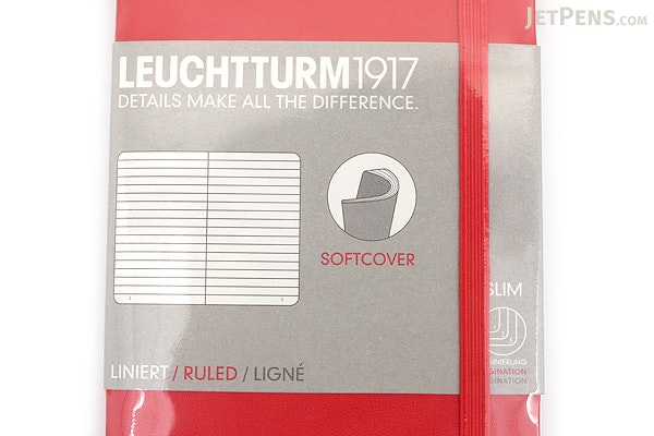 Leuchtturm1917 Softcover Pocket Notebook - A6 - Red - Ruled - LEUCHTTURM1917 349310