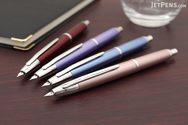 Pilot Vanishing Point Decimo Fountain Pen - Burgundy - 18K Gold Medium Nib - PILOT FCT-15SR-R-M