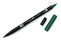 Tombow ABT Dual Brush Pen - 277 - Dark Green - TOMBOW AB-T277