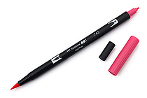 Tombow ABT Dual Brush Pen - 743 - Hot Pink - TOMBOW AB-T743