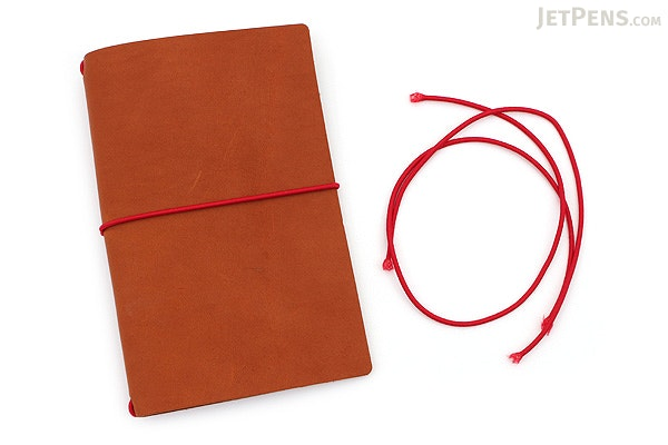 Word Notebooks Leather Notebook Jacket - Chestnut/Red - WORD NOTEBOOKS BM-JACKETCHEST