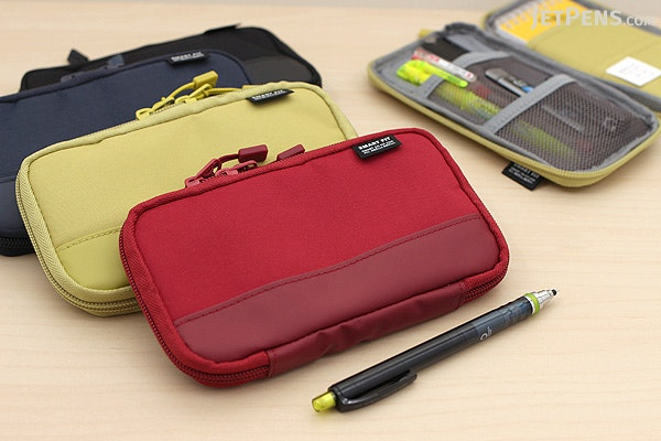 Lihit Lab Smart Fit Actact Compact Pen Case - Black - LIHIT LAB A-7687-24