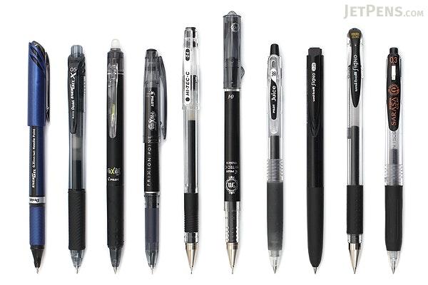 Jetpens Black Gel Pen Sampler Jetpens Com
