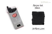 Aurora Fountain Pen Ink Cartridges - Black - Pack of 5 - AURORA 129N