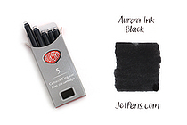 Aurora Fountain Pen Ink Cartridges - Black - Pack of 5 - AURORA 129N