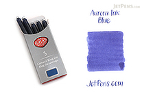 Aurora Fountain Pen Ink Cartridges - Blue - Pack of 5 - AURORA 129B