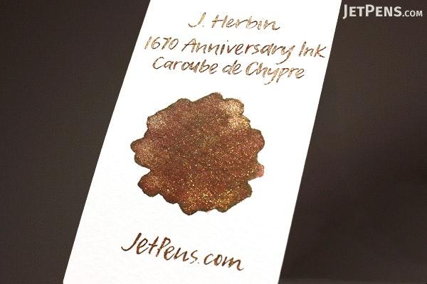 J. Herbin Caroube de Chypre Ink - 1670 Anniversary - 50 ml Bottle - J. HERBIN H150/45