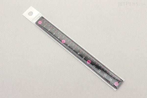 Raymay Slim Color Ruler - 15 cm - Pink - RAYMAY AJR201P